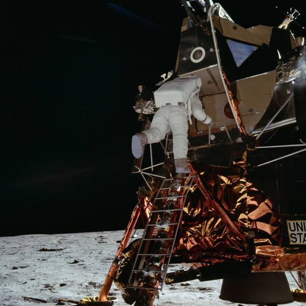 NASA - Astronaut Edwin Aldrin Descends the Lunar Module
