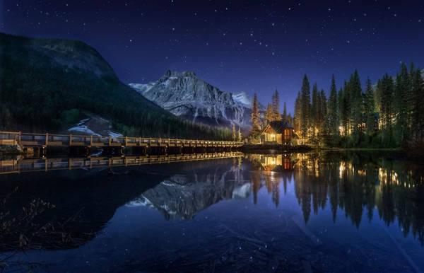Jesús M Garcia - Lake House and Stars | blinq.art