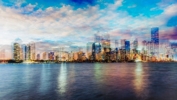 Laurent Dequick - Miami Skyline I