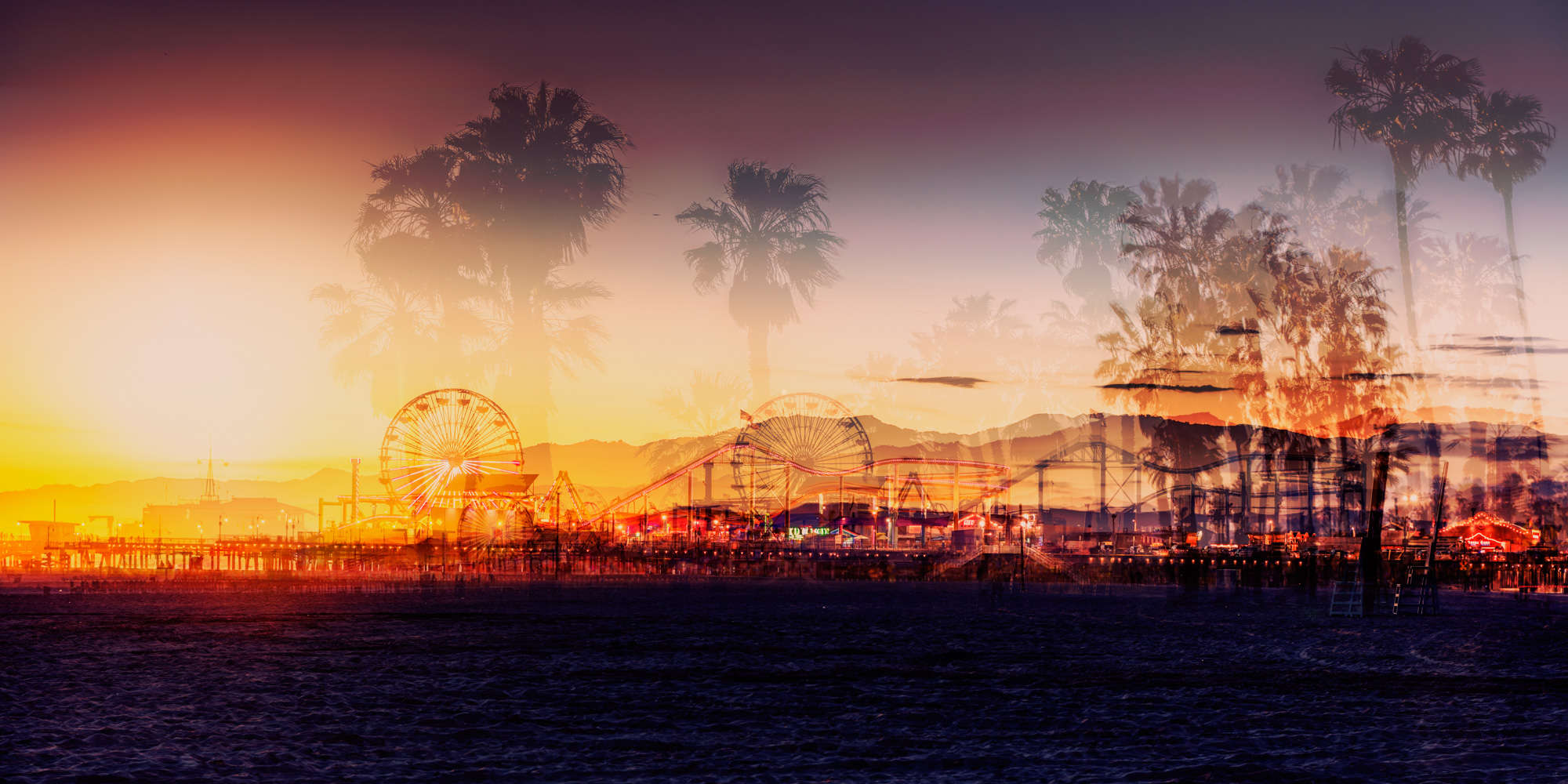 Laurent Dequick - Santa Monica Sunset