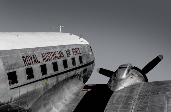 Gary Sheppard - Rear view Douglas C-47 Skytrain in RAAF colours