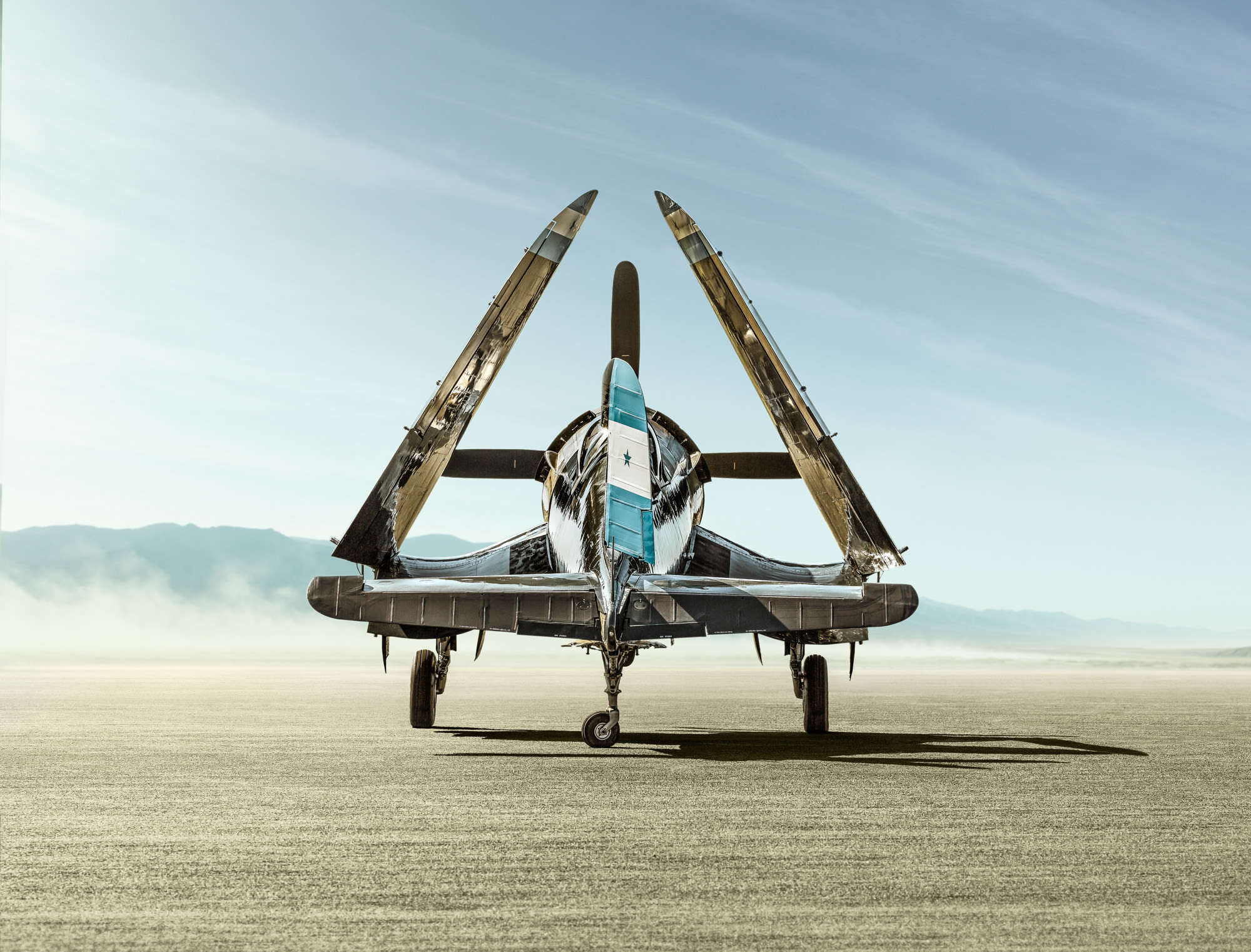 Gary Sheppard - Vought F4U Corsair on dry lake bed II