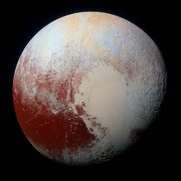 NASA - The Rich Colour Variations of Pluto
