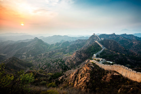 Jörg Wanderer - Sunset on the Great Wall of China